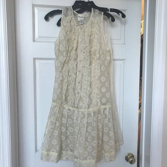 63ee1e6a8 Tracy Reese Dresses   Ivory Silk And Metallic Dress W Slip   Poshmark